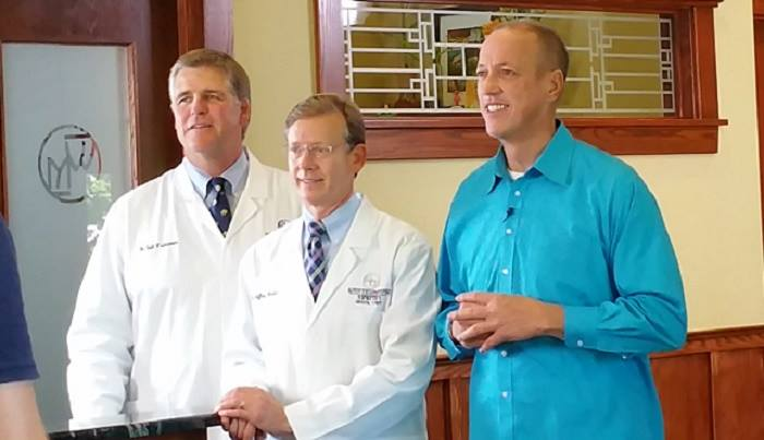 Jim Kelly and Dentists at Westermeier Martin