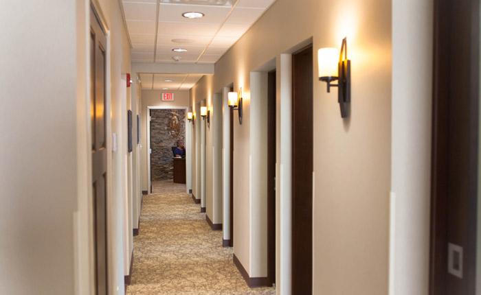 Amherst office hallway