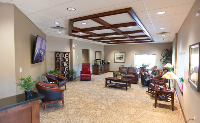 Amherst office lobby