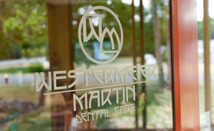 WM logo on their office door