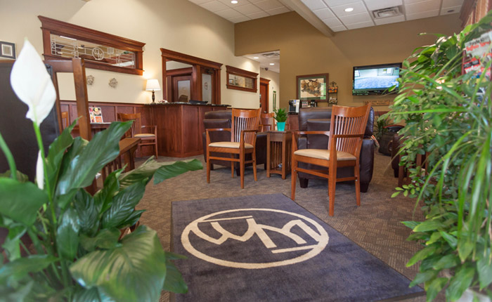 WM office lobby