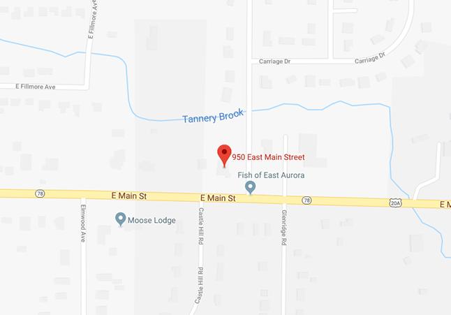 WM East Aurora location on a map