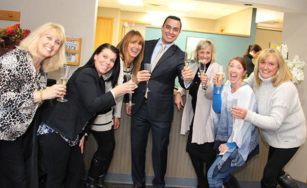 Team celebrating