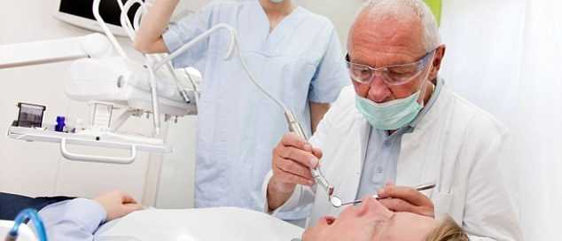 Man at the dentist