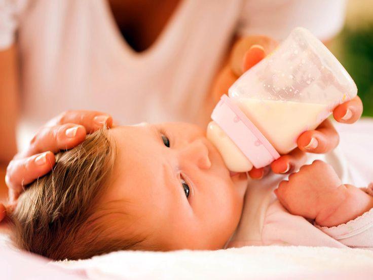 Baby having a bottle