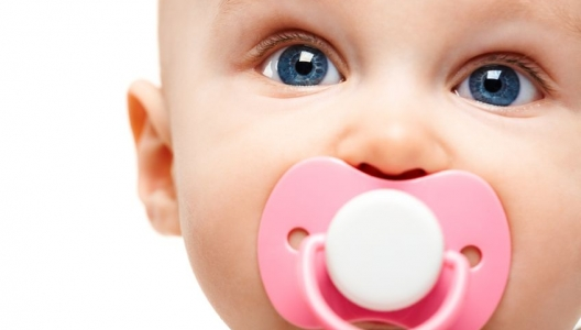 Young child with a pacifier