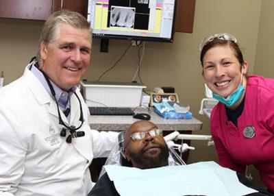 Dr Westermeier and a patient smiling