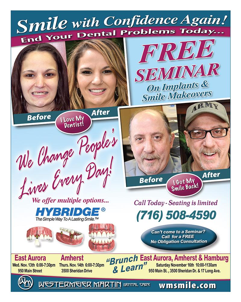 Free dental seminar flyer