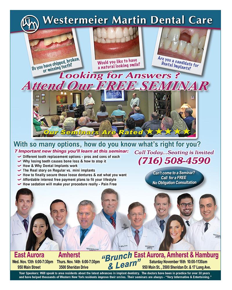 Free dental seminar flyer page two