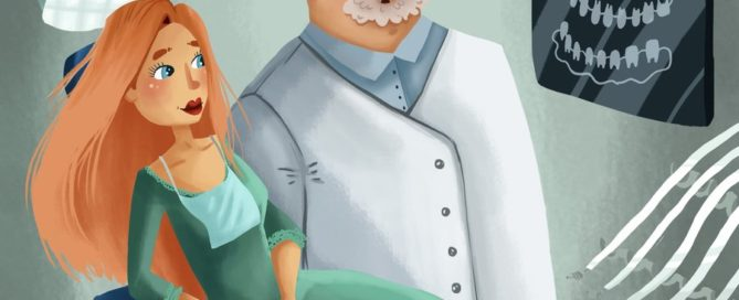 Illustration of a doctor reviewing an xray